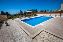 Modern stylish brand new holiday villa of 3 bedrooms and a private swimming pool.